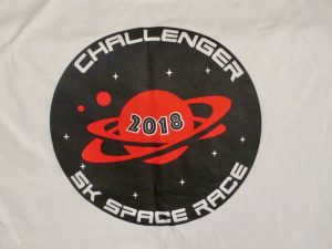 Logo from the Challenger 5K Space Race Shirt