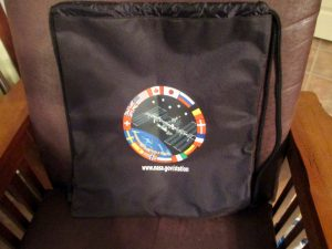 The Space Race Drawstring Backpack Swag Bag
