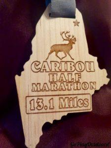 Finishers Medal Caribou Half Marathon 2017