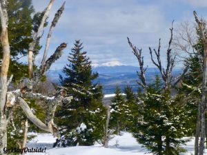 Snow-Capped Mount Katahdin Seen in the Distance from Shaw Mountain