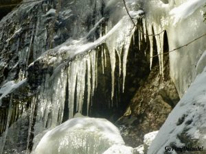 Icicle Covered Rock Ledges Little Moose Mountain