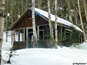Old Fire Warden's Cabin on Big Moose Mountain