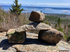 Cairn on the North Ridge Trail Cadillac Mountain Acadia National Park Maine
