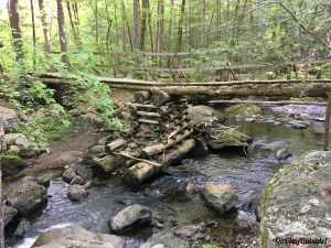 A Bridge over a Stream on the Appalachian Trail New York State