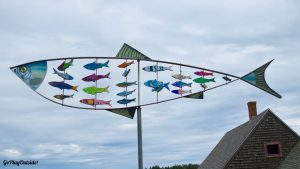 Sculpture on the Waterfront in Lubec, Maine