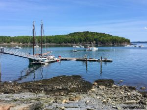 The Bar Harbor Narrows from the Shore Path near Agamont Park