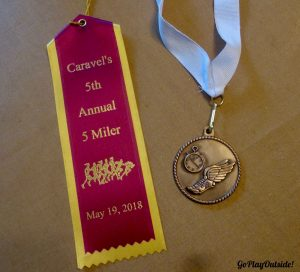 Carvel 5 Miler Race Ribbon and Medal