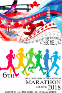 Race Poster for the Bay of Fundy International Marathon Designed by Kobee Ingersoll, an 18 Year Old Former Resident of Campobello Island