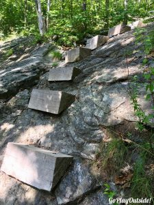 Wooden Box Steps for Climbing