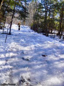 Winter Hike Great Pond Mountain Orland Maine Great Pond Conservation Trust