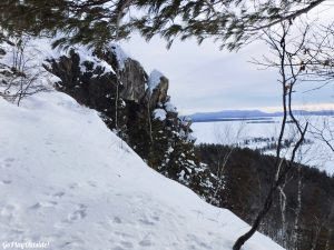 Mount Kineo Rockwood Greenville Moosehead Lake Winter Hiking Indian Trail