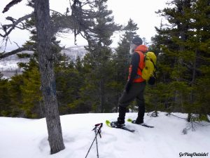 Little Moose Mountain Greenville Moosehead Lake Area Hiking Snowshoeing Winter
